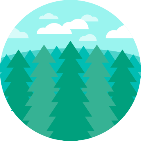 clipart pine forest